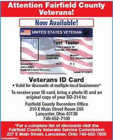 veteran id card template fairfield county veterans service commission lancaster ohio