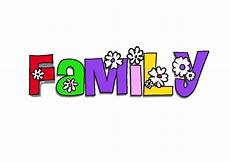 clipart words 20 x my family school clipart