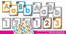 honeybops free printable alphabet flash card black white and color numbers 0 22