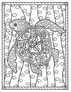 sea turtle coloring page instant digital