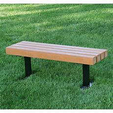 jayhawk plastics trailside recycled plastic commercial backless bench outdoor benches at hayneedle