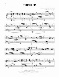 thriller sheet music michael jackson piano solo