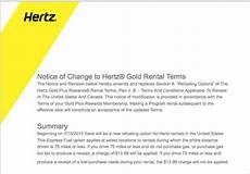 hertz updates gold service t c loyaltylobby