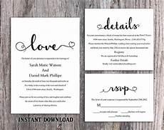 diy wedding invitation template editable word file