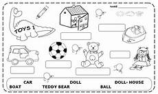 worksheets colors and toys 12707 toys