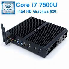 hystou 7th kaby lake intel i7 7500u fanless mini