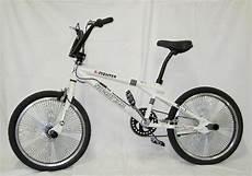 20 zoll bmx freestyle fahrrad bike rad mit 140 speichen weiss