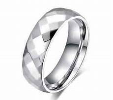 unisex stainless steel 316l silver diamond cut faceted