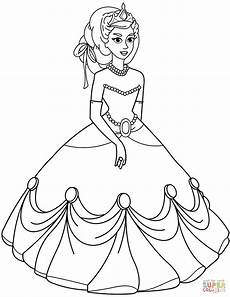 coulring of a princess free colouring pages