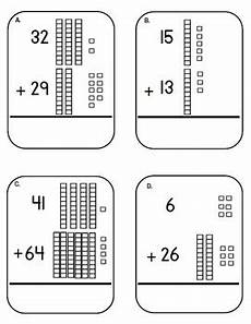 addition worksheets using base ten blocks 8798 place value base ten block and cubes addition task cards adding tens center