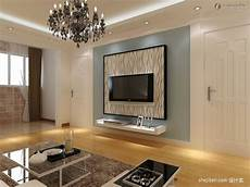 gypsum board tv background wall renovation renderings tv