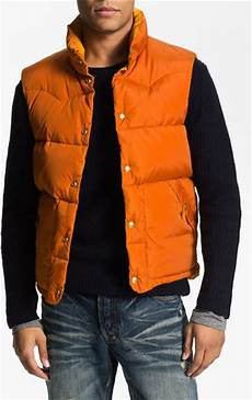 scotch soda reversible quilted vest in orange for lyst