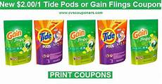 just released 2 00 off one tide pods or gain flings coupons print now cvs couponers