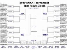 ncaa tournament 2019 printable bracket with pod locations and team records larry brown sports