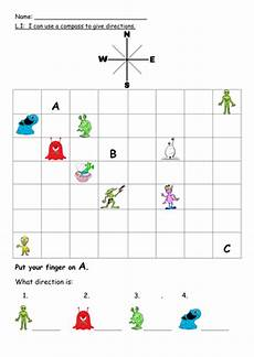 compass directions ks2 worksheets 11720 using a compass to follow directions by missb83 teaching resources tes