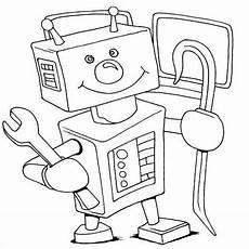 Ausmalbilder Roboter Kinder Roboter Ausmalbild 06 Roboter Ausmalen Und Ausmalbilder