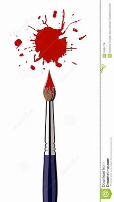 royalty free stock photos paint brush with red color splash image 10824778