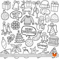 merry christmas doodle vector icons winter holidays concept art cartoon doodle icons clipart