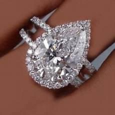 18k solid white gold certified 5 00 carat pear shape diamond engagement ring ebay