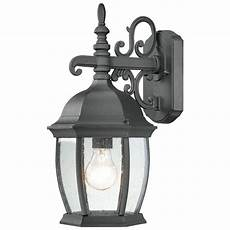 lighting covington 1 light black outdoor wall lantern sl92287 the home depot