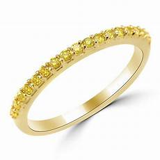 1 3 carat fancy canary yellow diamond wedding band ring high