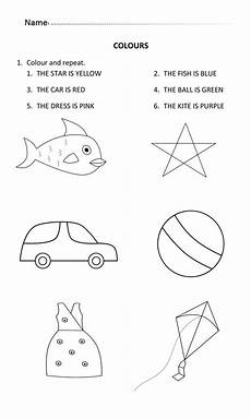 colours worksheet for 5 and 6 years old learningcolours english for 5 to 6 years old color