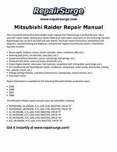 car service manuals pdf 2009 mitsubishi raider free book repair manuals mitsubishi raider repair manual 2006 2009 by bechard issuu