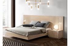 deco lit adulte lit adule en bois 160x200 avec chevets t 234 te de lit 224 led