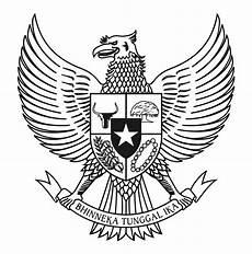 Logo Garuda Pancasila Bw Hitam Putih Vector Cdr
