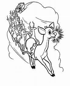 13 reindeer coloring pages