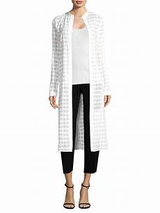 white sheer duster coats lafayette 148 new york cotton auden sheer duster jacket in