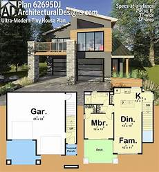 ultra modern house floor plans plan 62695dj ultra modern tiny house plan med bilder