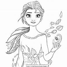 elsa from frozen 2 coloring page
