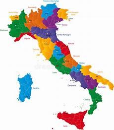 Regions Of Italy Stock Illustration Illustration Of Color