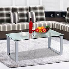 modern glass top cocktail coffee table chrome finish glass side end tables ebay