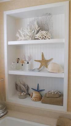seashell bathroom decor ideas sea shells the built in beadboard shelves coastal dom dekoracje domy