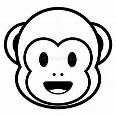 Emoji Malvorlagen Xl Monkey Emoji Isolated On White Background Stock