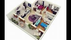 Gambar Denah Rumah Minimalis 1 Lantai 3 Kamar Tidur