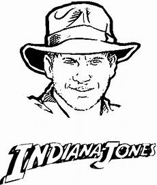 coloring indiana jones picture