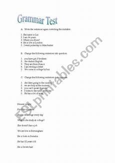 punctuation worksheets entry 1 20755 esol entry 3 grammar quiz esl worksheet by ffariwar