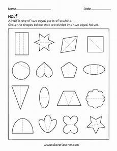 equal parts of a whole worksheet printable worksheets