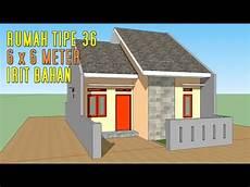 Desain Rumah 70 Jutaan 6 X 6 Meter 2 Kamar Tidur Tipe 36