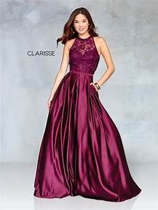 clarisse dress 3763 satin lace ball gown prom 2019