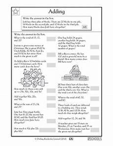 2nd grade math addition word problems worksheet 24360 gif