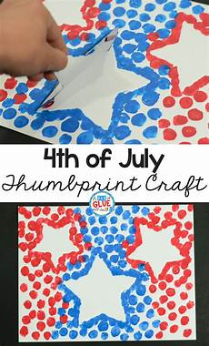 4th Of July Crafts 4th of july patriotic thumbprint craft