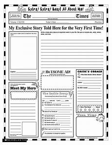grade school autobiography report worksheet write about it writing assignments teaching