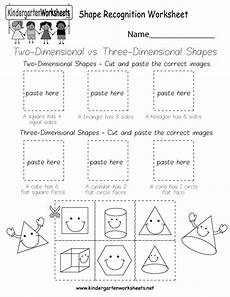shape recognition worksheet free kindergarten geometry