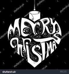 black white merry christmas decoration stock vector illustration 49936852