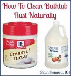 Removing Rust Stains From Bathtub Home Remedies