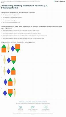 repeating shape patterns worksheets year 1 307 understanding repeating patterns from rotations quiz worksheet for study